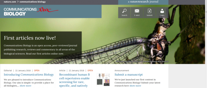 Nature姉妹紙Communications Biology - 日本の科学と技術 ~研究